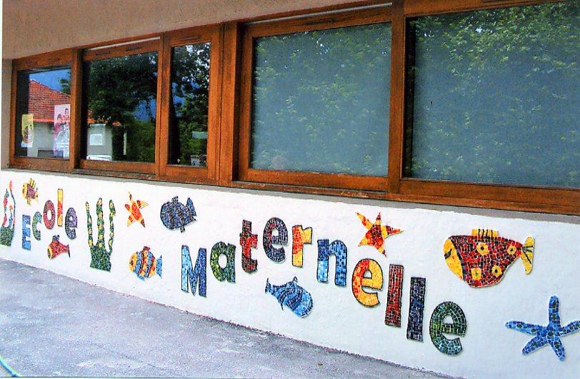 R alisation d 39 une mosa que ecole maternelle de f ternes 74 - Mosaique sur mur exterieur ...